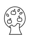 Dibujo para colorear manzano