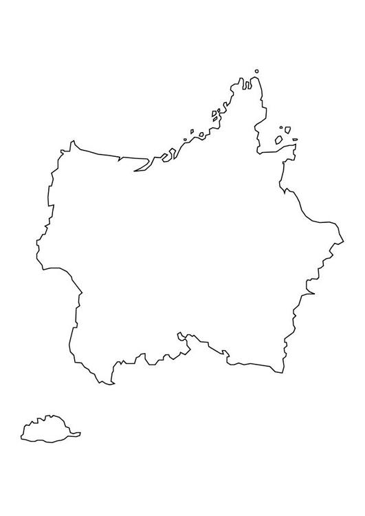 Dibujo para colorear Mapa de Francia - Img 10111