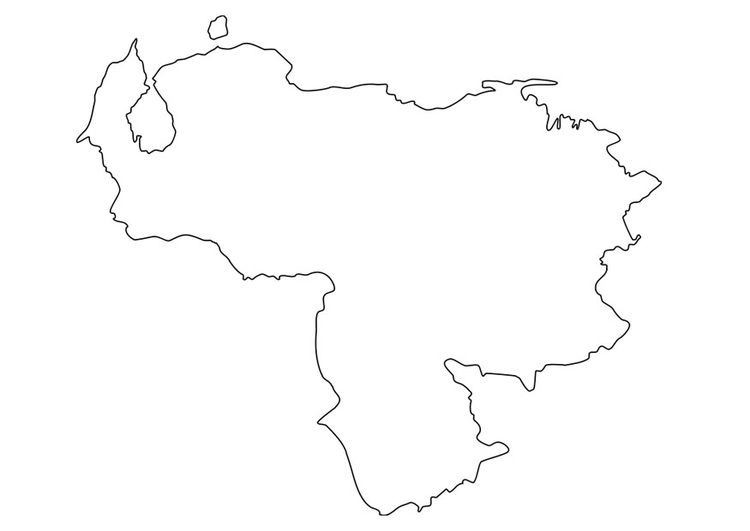 Dibujo para colorear mapa de venezuela - Img 19224