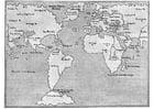 Dibujo para colorear Mapa del mundo de 1548