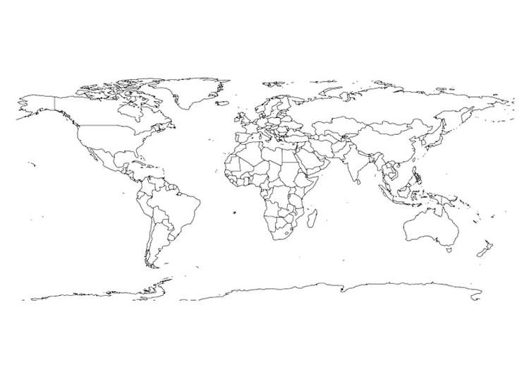 Mapa Del Mundo Para Dibujar: Dibujo Para Colorear Mapa Del Mundo