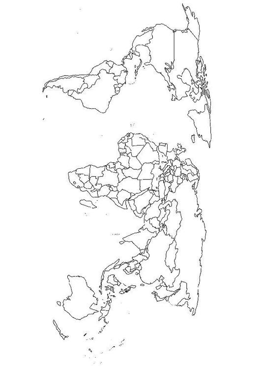 Dibujo para colorear Mapa del mundo - Img 8110