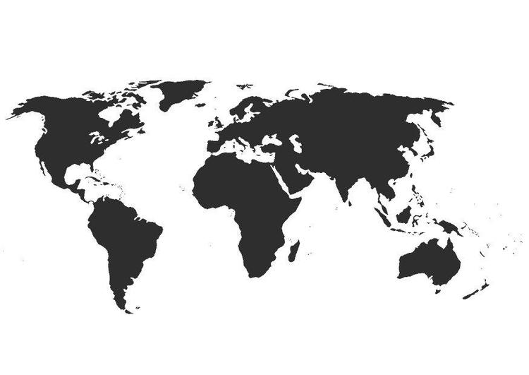 Mapa Del Mundo Para Dibujar: Dibujo Para Colorear Mapa Del Mundo Sin Fronteras
