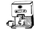 Dibujo para colorear máquina de café