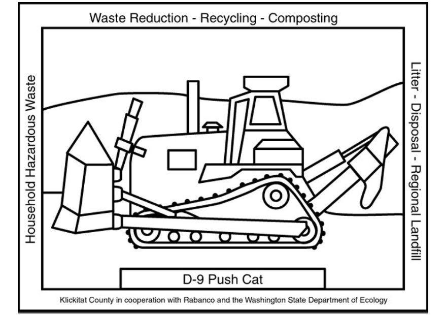 Como Dibujar La Maquina Voladora: Dibujo Para Colorear Máquina De Tratamiento De Residuos