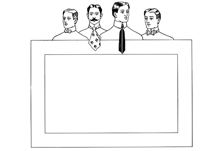 Dibujo Para Colorear Marco Corbatas Y Pajaritas Img 28133