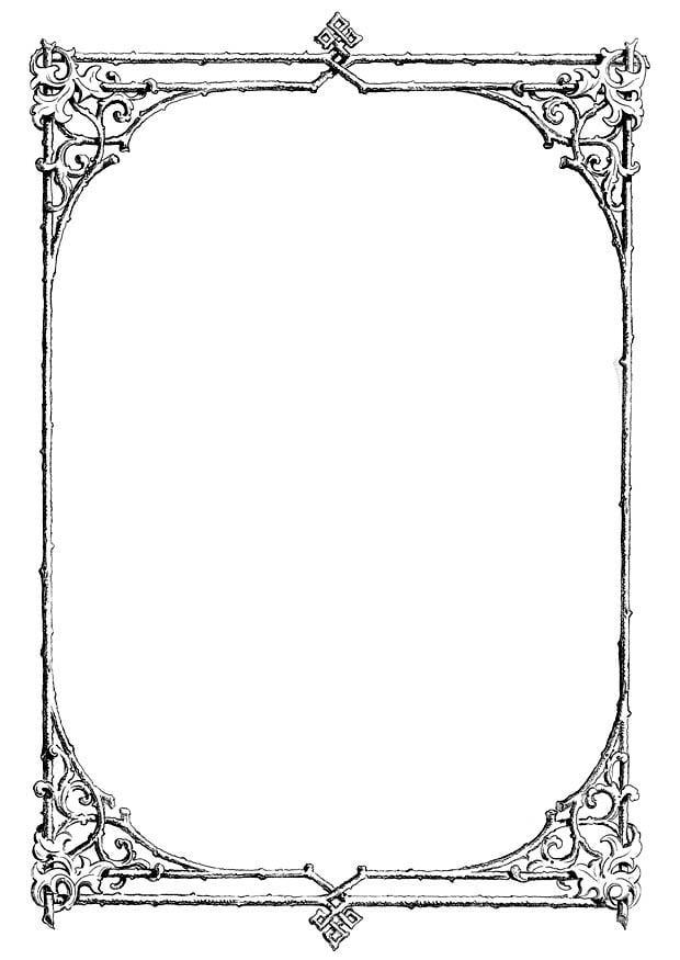 Dibujo para colorear marco de ramas img 11230 - Marcos de fotos para pintar ...