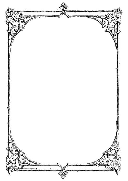 Dibujo para colorear Marco de ramas - Img 11230 Images