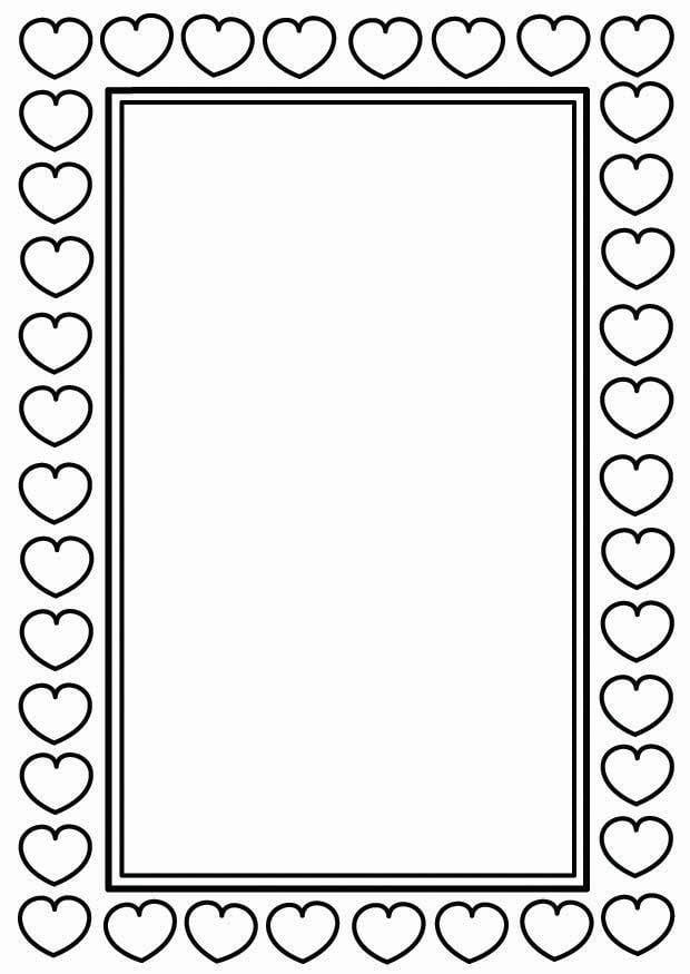 Dibujo Para Colorear Marco De San Valentín Dibujos Para