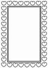 Dibujo para colorear marco de San Valentín