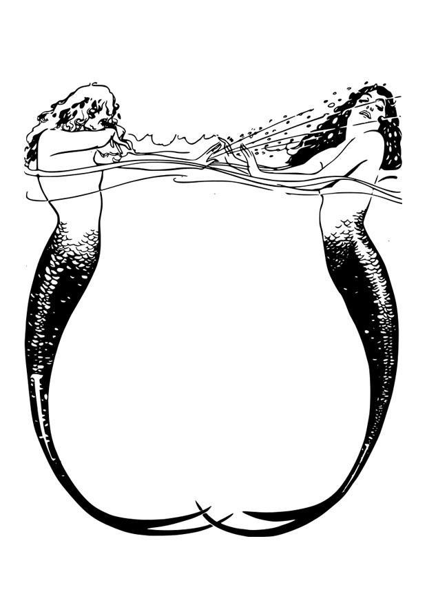 Dibujo Para Colorear Marco De Sirenas Img 26408