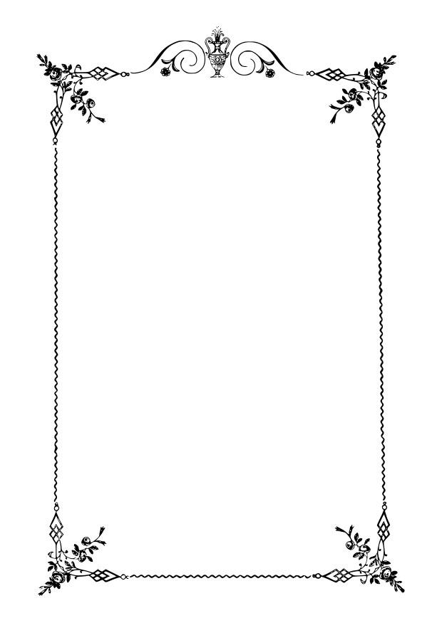Dibujo para colorear marco elegante - Img 27915