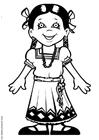 Dibujo para colorear María de México