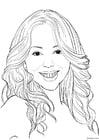 Dibujo para colorear Mariah Carey