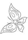 Dibujo para colorear mariposa alegre