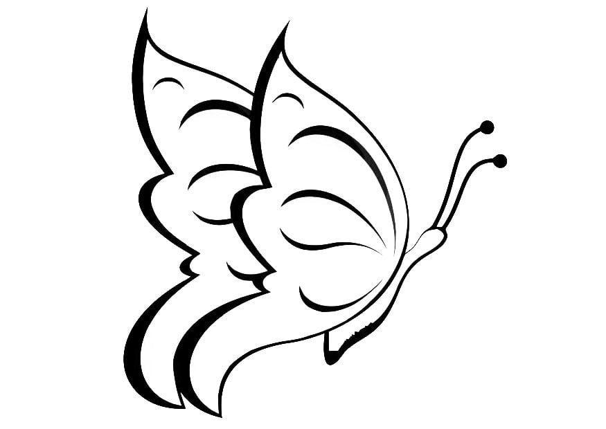 Dibujos Animados De Mariposas Para Colorear: Dibujo Para Colorear Mariposa