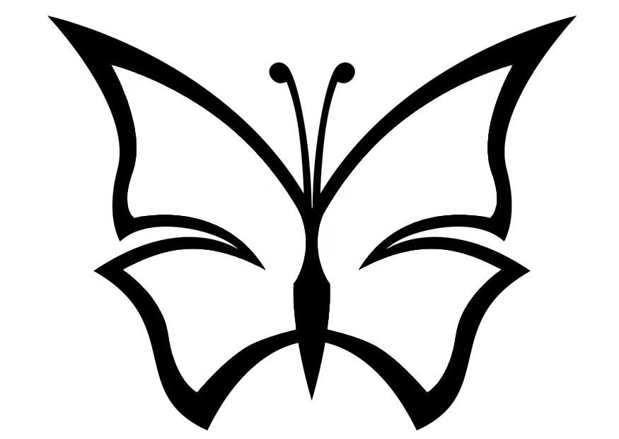 Dibujo para colorear mariposa - Img 20673