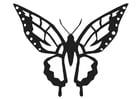 Dibujo para colorear mariposa