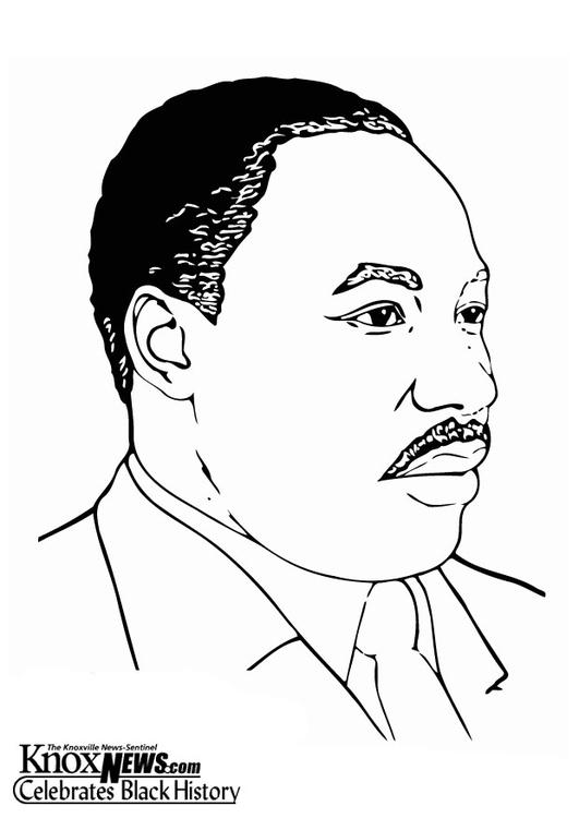 Dibujo para colorear Martin Luther King, Jr - Img 12874