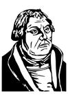 Dibujo para colorear Martin Luther