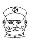 Dibujo para colorear Máscara de agente de policía