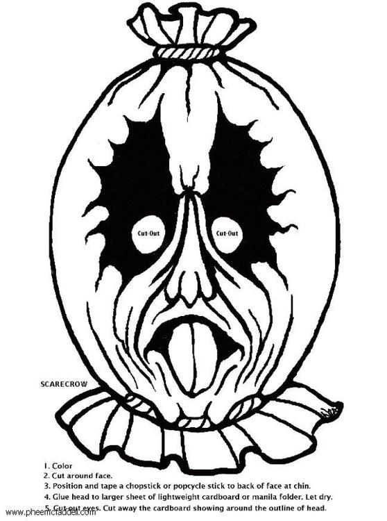 Dibujo para colorear Máscara de espantapájaros - Img 6124