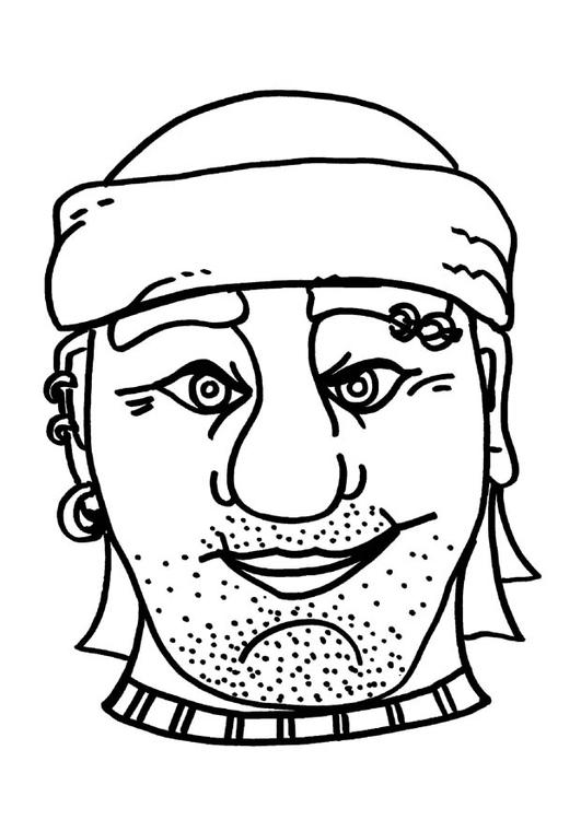 Dibujo Para Colorear Mascara De Pirata Bribon Dibujos Para