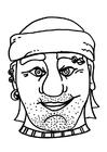 Dibujo para colorear Máscara de pirata / Bribón