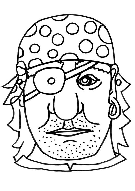 Dibujo Para Colorear Mascara De Pirata Dibujos Para Imprimir Gratis