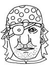 Dibujo para colorear Máscara de pirata