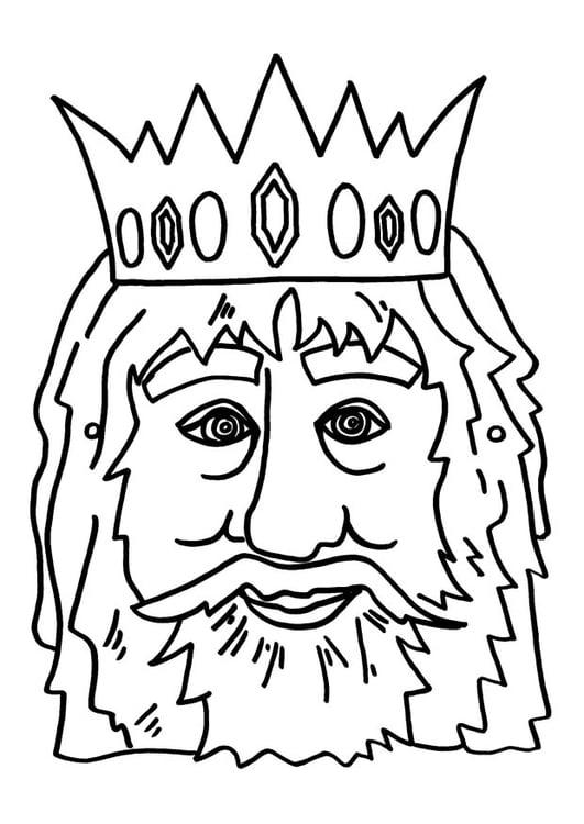 Dibujo Para Colorear Máscara De Rey Img 9181