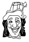 Dibujo para colorear Máscara Jan Klaassen
