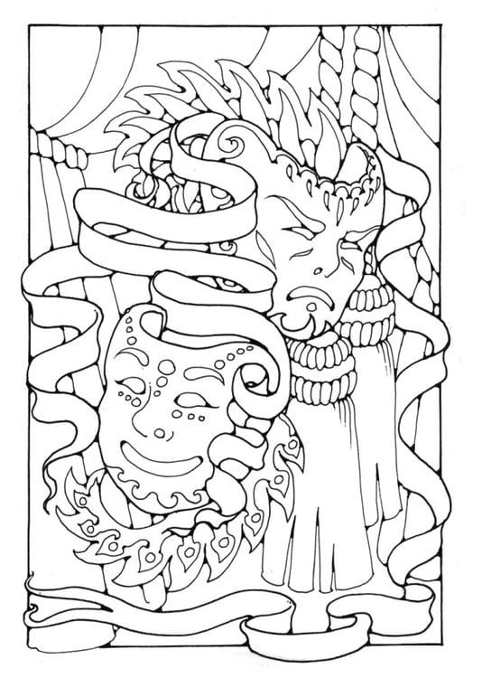 Mascaras De Carnaval Para Pintar. Desenho De Carnaval Para Colorir ...