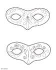 Dibujo para colorear Máscaras