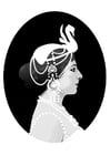 Dibujo para colorear Mata Hari
