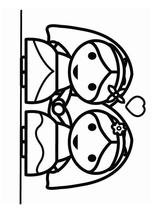 Matrimonio Catolico Dibujo : Dibujo para colorear matrimonio homosexual entre mujeres