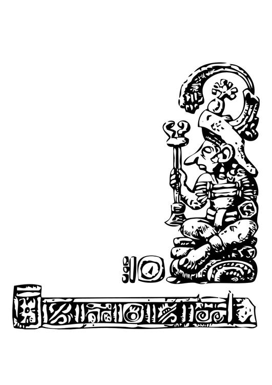 Dibujo Para Colorear Maya Img 11345