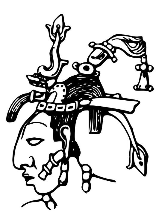 Dibujo Para Colorear Maya Pacal Img 28127
