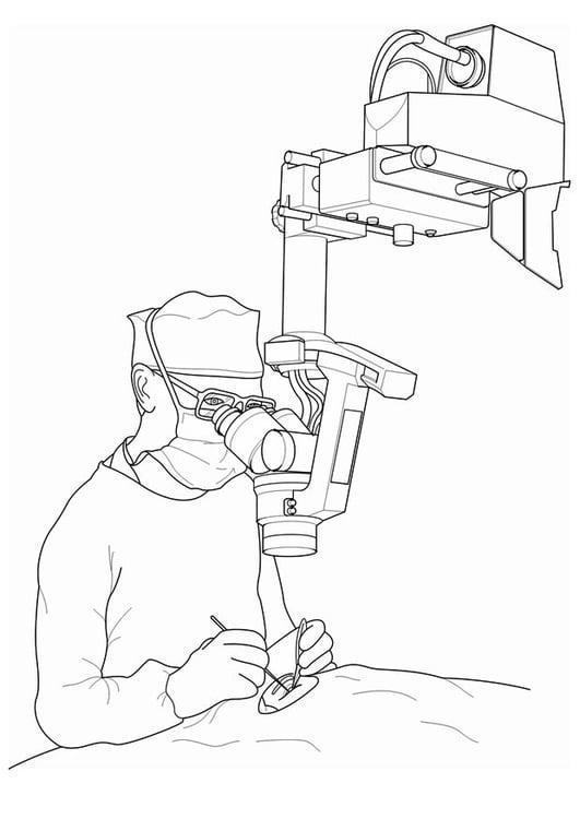 Dibujo para colorear médico - operación - Img 17066