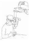 Dibujo para colorear médico - operación