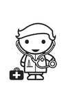 Dibujo para colorear médico
