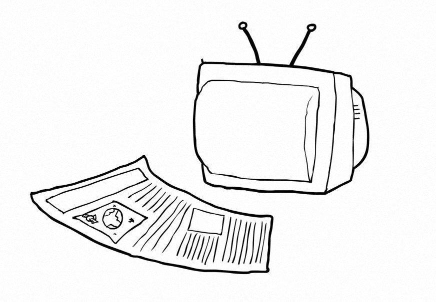 Dibujo Para Colorear Medios De Comunicación