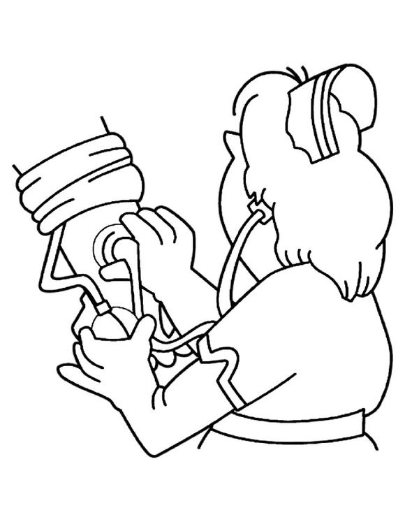 Dibujo para colorear Medir la presión arterial - Img 12196