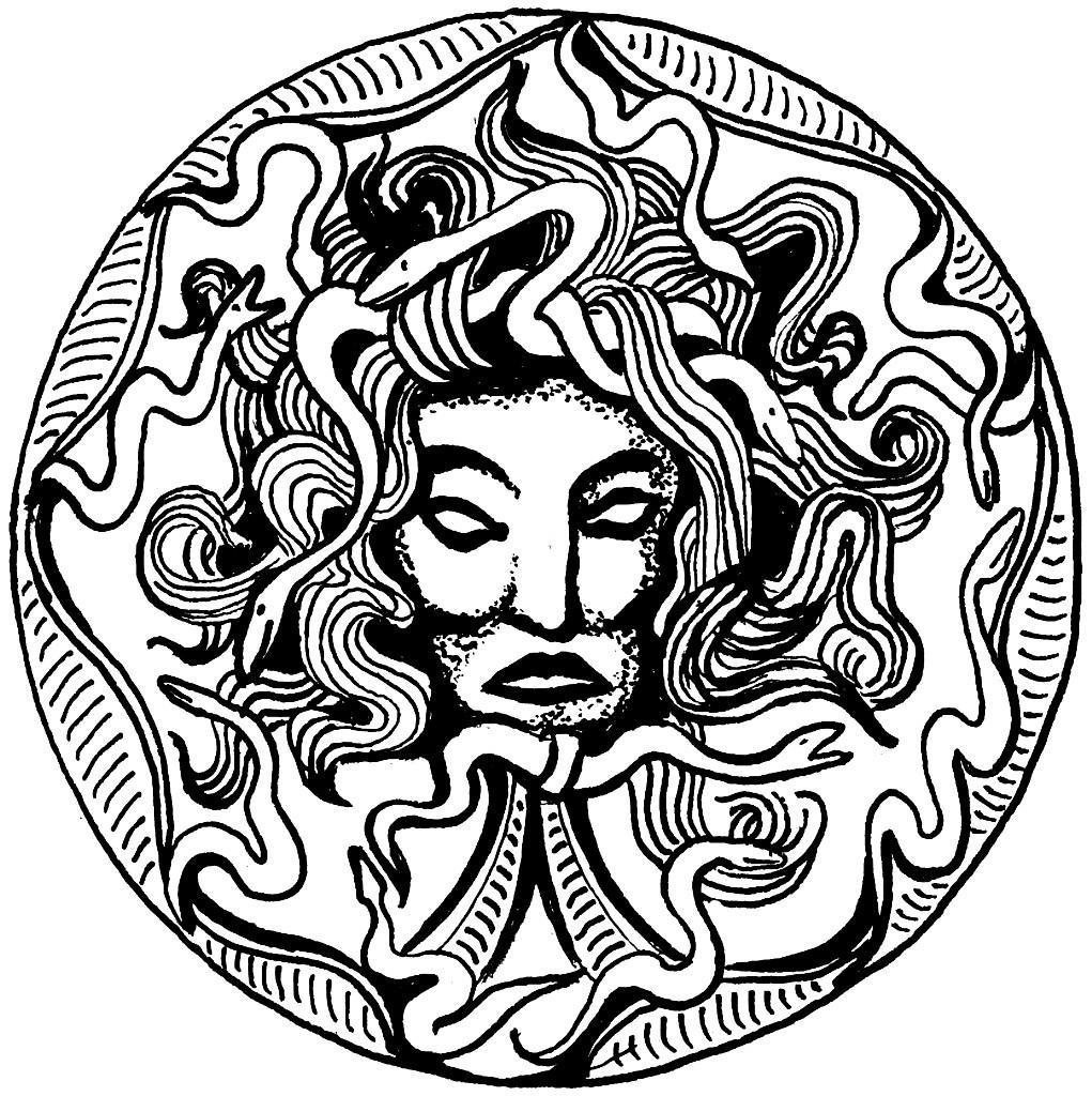 Dibujo para colorear Medusa - Img 16019