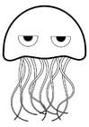 Dibujo para colorear medusa