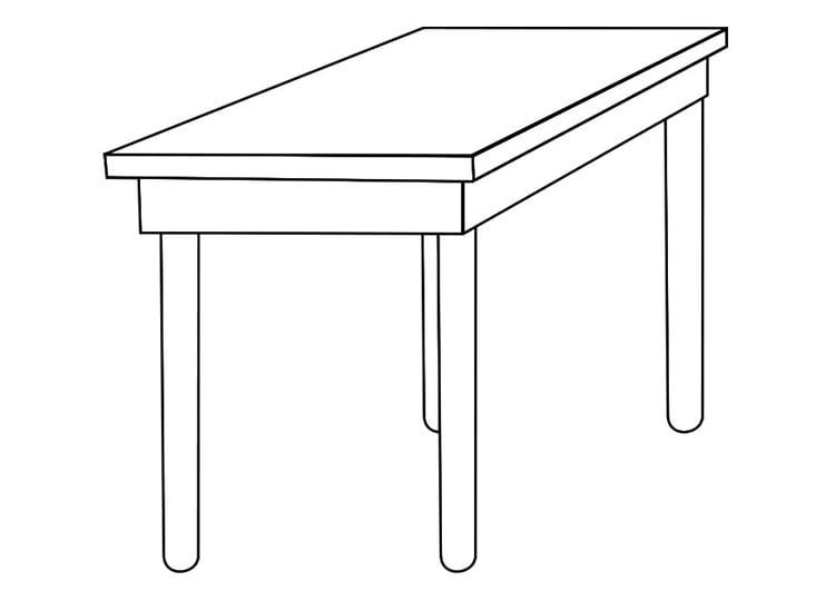 Dibujo para colorear mesa img 19258 for Mesa de luz para dibujo