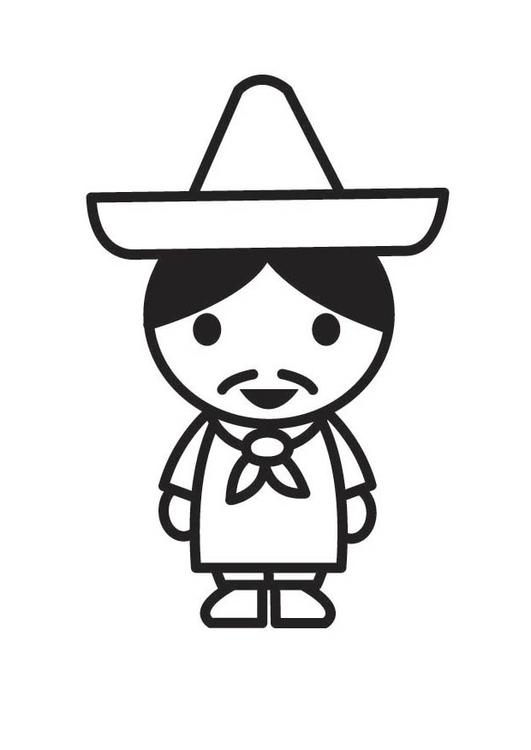 Dibujo Para Colorear Mexicano Dibujos Para Imprimir Gratis