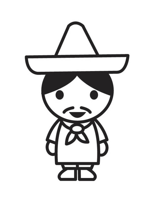Dibujo para colorear mexicano - Img 18198 38475314fbb