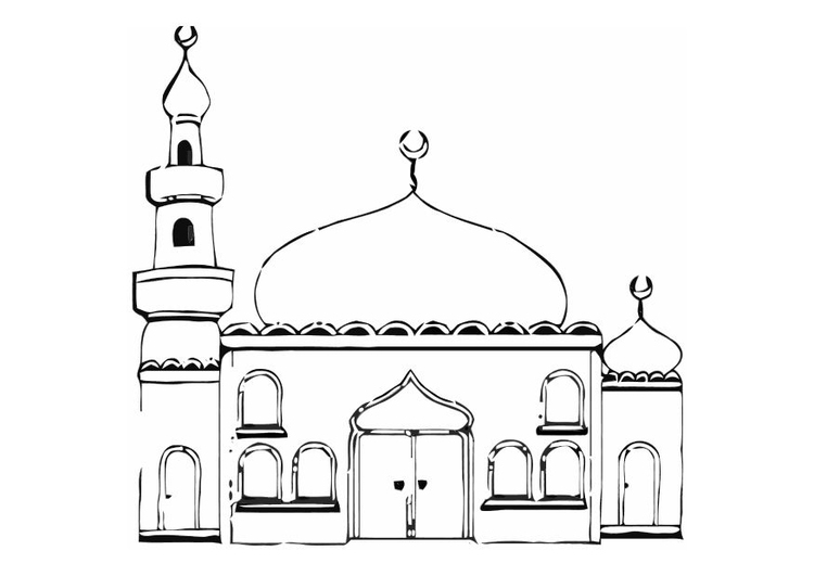 Dibujo para colorear Mezquita - Img 11274
