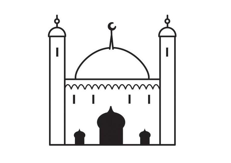 Dibujo para colorear mezquita - Img 23165